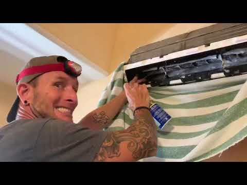 Cleaning AC unit