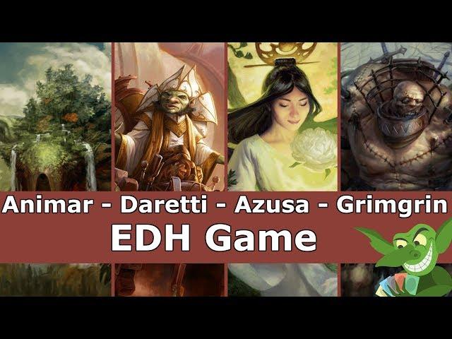 Animar vs Daretti vs Azusa vs Grimgrin EDH / CMDR game play for Magic: The Gathering