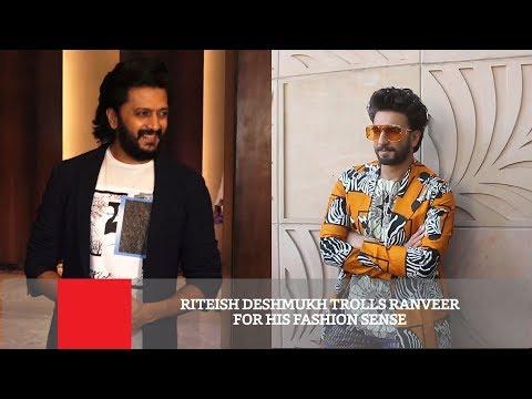 Riteish Deshmukh Trolls Ranveer For His Fashion Sense Mp3