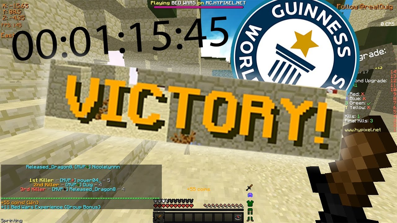 Fastest Bedwars Game Ever Not Clickbait Youtube