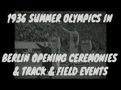 1936 SUMMER OLYMPICS IN BERLIN  OPENING CEREMONIES & TRACK & FIELD EVENTS  85754
