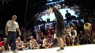 Outbreak Europe 2014 1vs1 World Bboy Series Semifinal| Killa Kolya vs Kuzya
