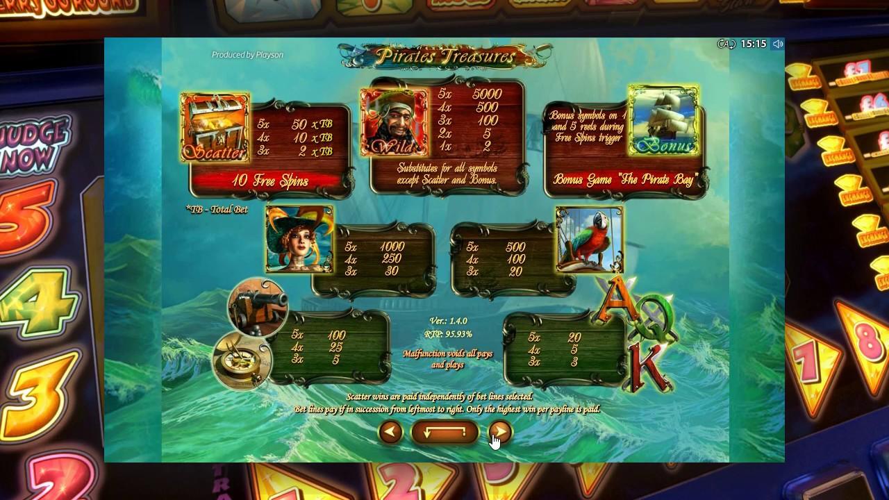 автомат pirate treasures
