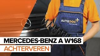 Hoe de achterveren vervangen op een MERCEDES-BENZ A W168 HANDLEIDING | AUTODOC