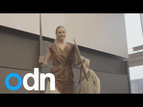Viking fashions on display in Copenhagen
