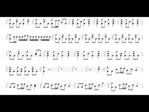 Paramore - Ignorance [Drums Notation Score Sheet] (By OXZ)