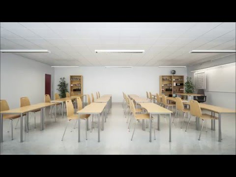 Listen to the difference sound absorption has in a classroom
