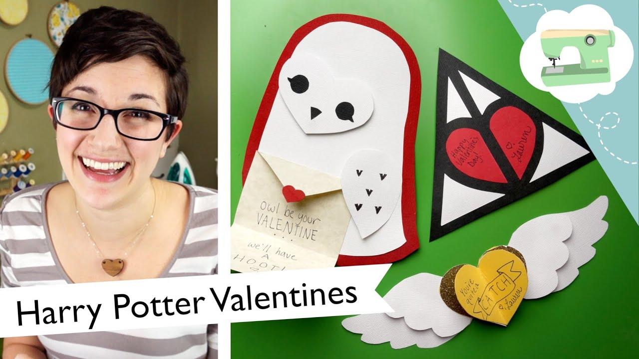 Harry Potter Valentines Tutorial | @laurenfairwx   YouTube