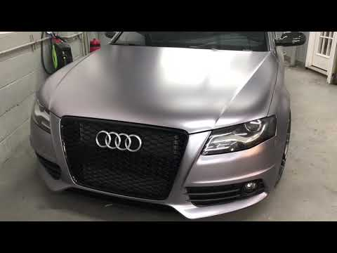 Audi S4 fully wrapped in frozen charcoal
