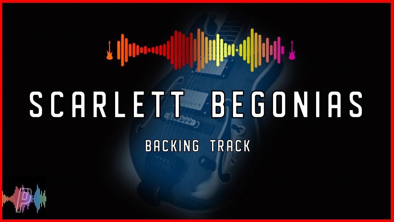 Grateful Dead Scarlet Begonias Backing Track in B Mixolydian
