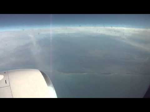 Houston (IAH)-to-Miami flight: from Gulf showers to Florida Gulf Coast descent 2011-12-20