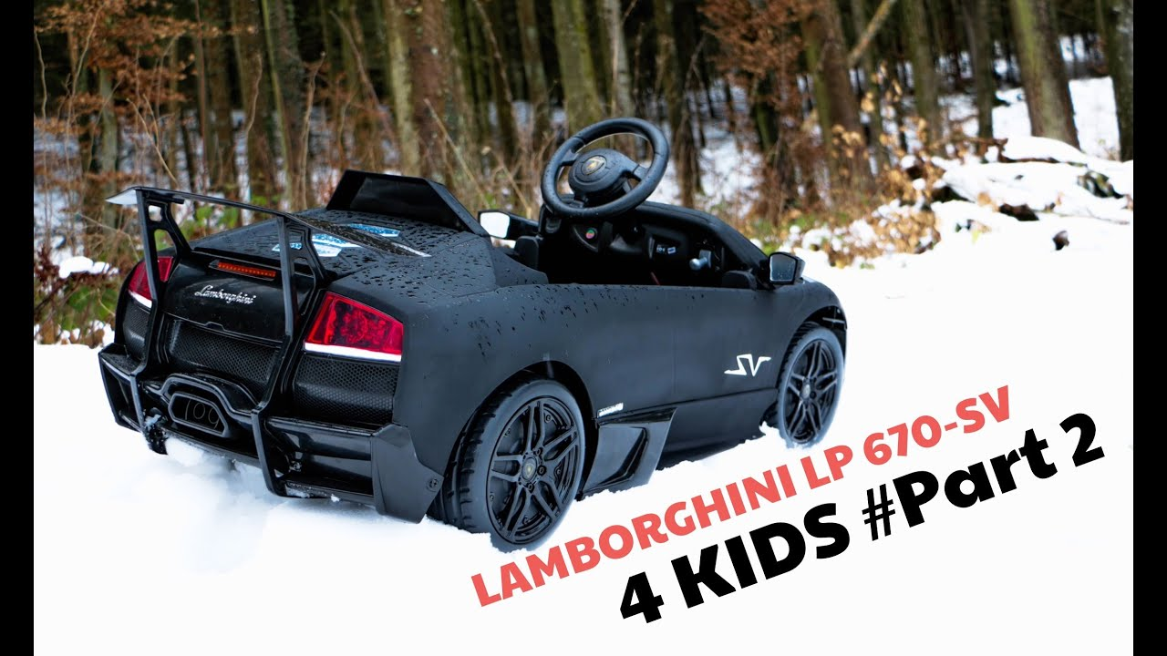 Lamborghini Murcielago Lp Sv Electric Car For Kids Part