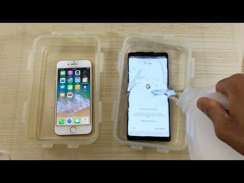 iPhone 8 vs Galaxy Note 8 - Waterproof Durability Test! (4K)