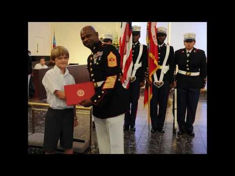 Dallas child awarded by Texas Marines for charity efforts