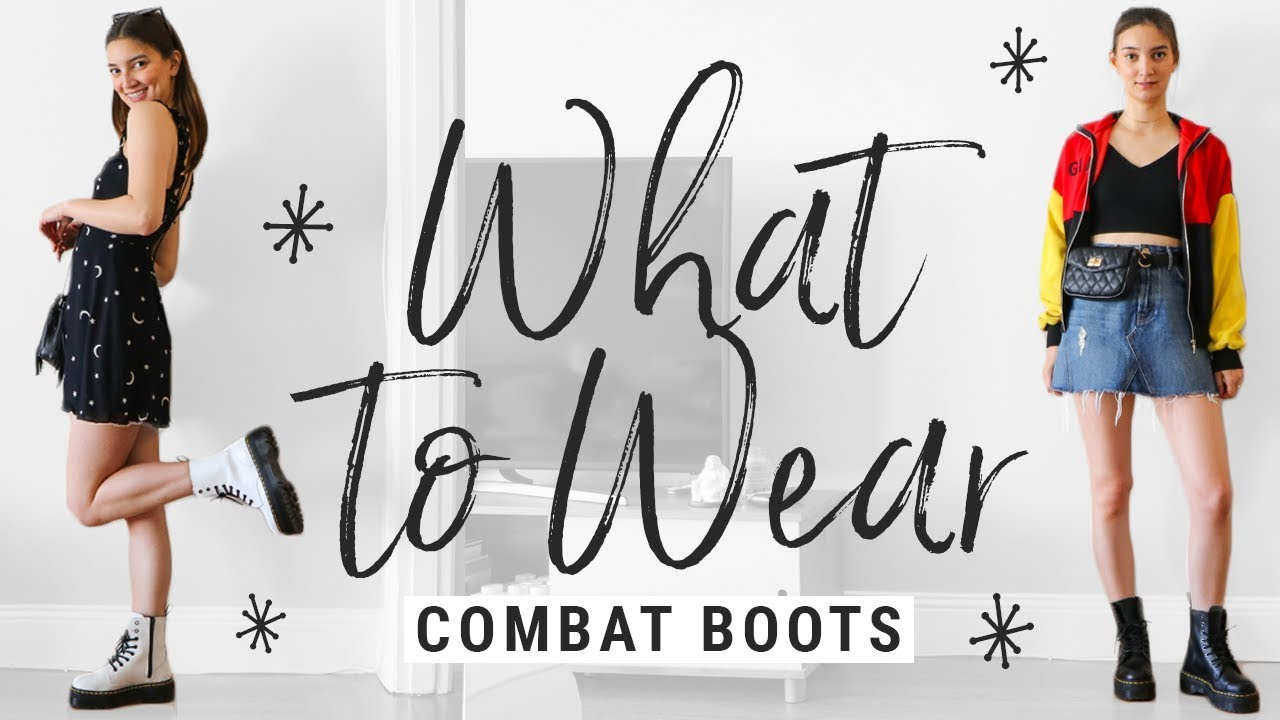 3cbbdc8e7df8 How to Style Dr. Martens Combat Boots + GIVEAWAY!!! - YouTube