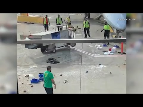 TARMAC TROUBLE: Catering Cart Loses Control At O'Hare International Airport In Chicago | ABC7