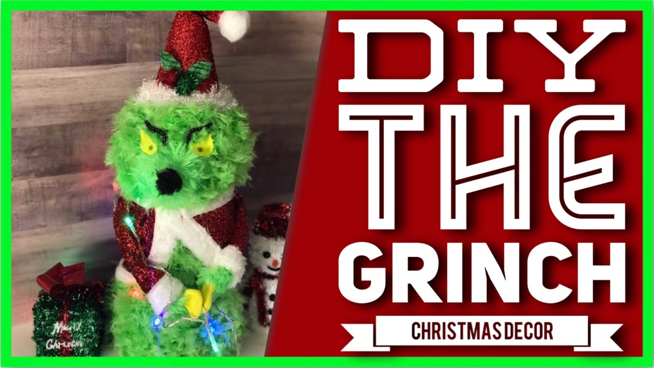 Diy The Grinch Christmas Decor Part 1 Dollar Tree How The Grinch Stole Christmas Centerpiece Youtube