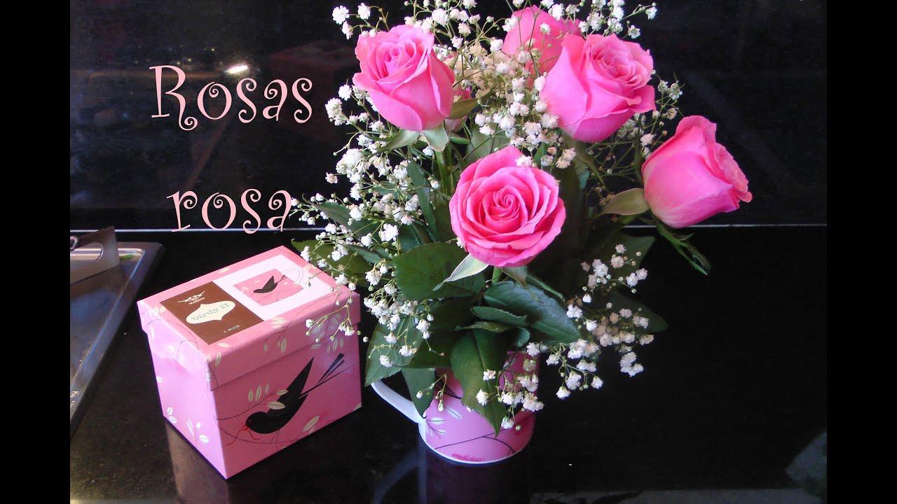 Como hacer arreglo floral de rosas dentro de una taza for Como hacer una mesa de centro