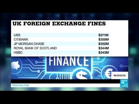 Five banks fined $3.2bn over foreign exchange rate-rigging