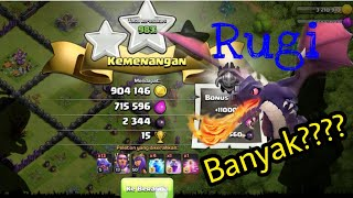 Farming Clash Of Clans Pake Dragon,Apakah Rugi???