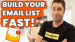 How To Build An Email List FAST & PROFITABLE! (Step By Step)