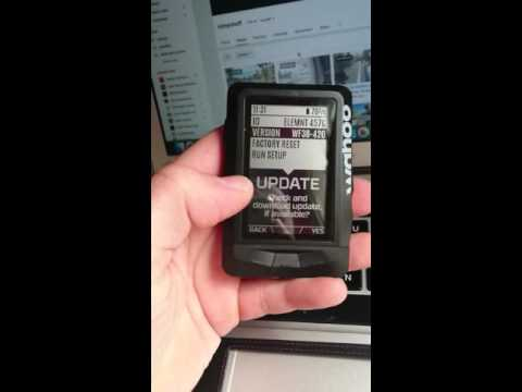 Wahoo elemnt update software check WF38 420 new features
