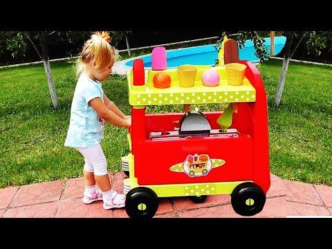 ✿ МАКДОНАЛЬДС НА КОЛЕСАХ Играем в Магазин Игры Для Детей Видео McDonalds KIDS Games Educational Toys