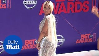 Alexxis Sky wears a completely see through gown for BET Awards - Daily Mail