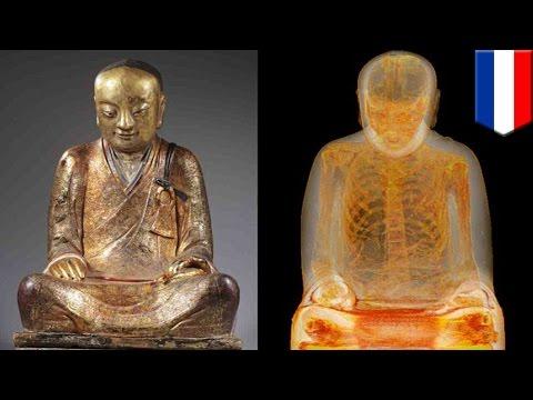 仏像中に古代高僧のミイラ、CTで発見 オランダ