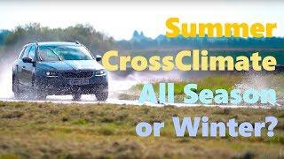 CrossClimate vs All Season vs Summer vs Winter Tyre Test - TyreReviews