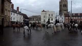 Newark-On-Trent 1st Jan 2015 South Notts Hunt visited the town centre