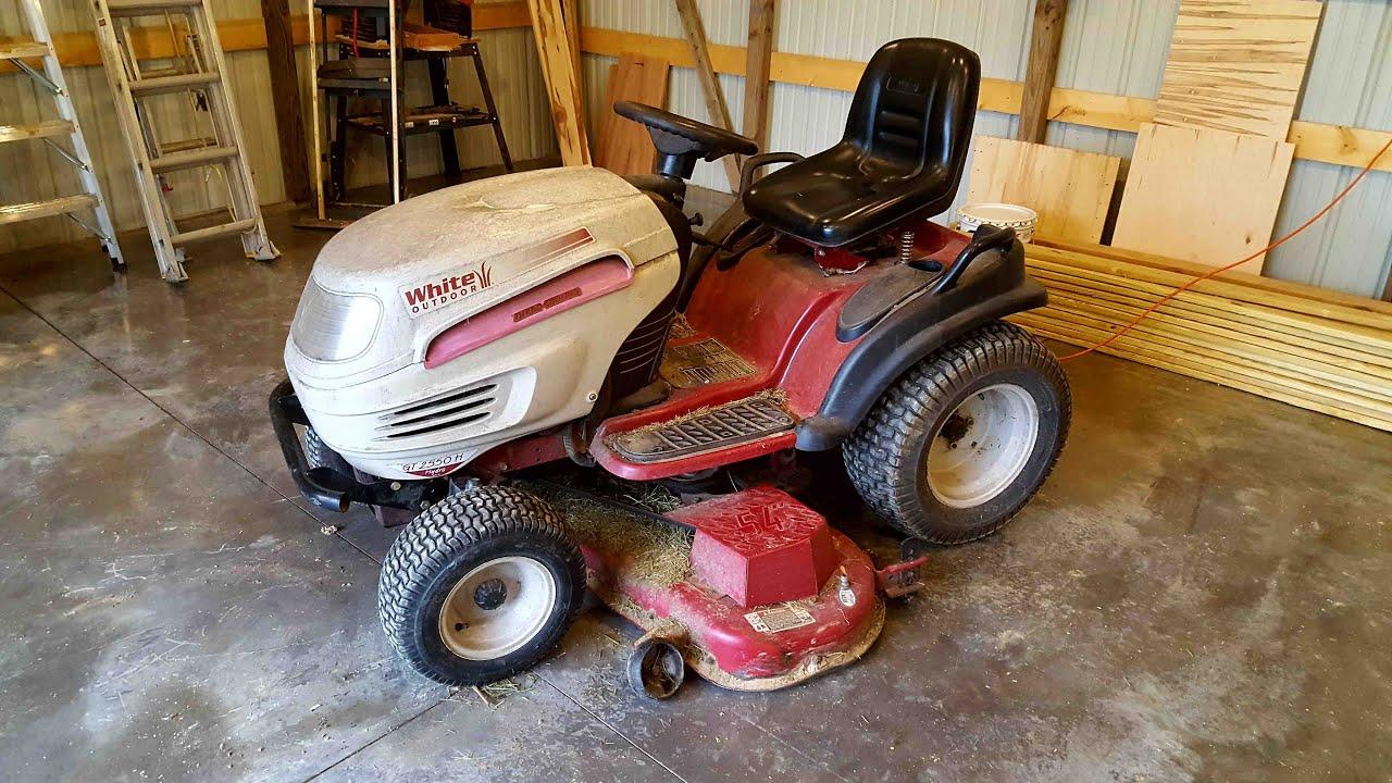steering repair on white outdoor lawn mower by mtd [ 1280 x 720 Pixel ]