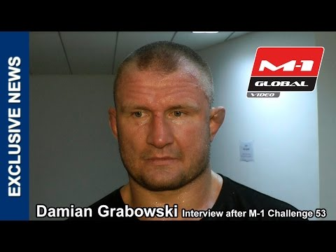 Damian Grabowski interview after M-1 Challenge 53