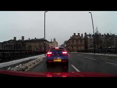 Winter Afternoon Drive From Dundee To Back Perth Perthshire Scotland