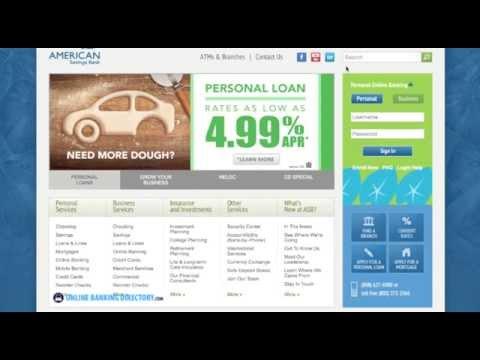 American Savings Bank Online Banking Login Information