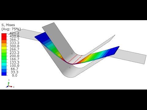 Manufacturing Simulation- Sheet metal Bending -Abaqus CAE-Implicit-Standard