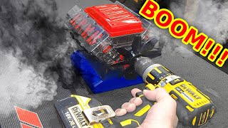 Twin Turbo V8 Model Engine VS 55,000rpm - BOOM