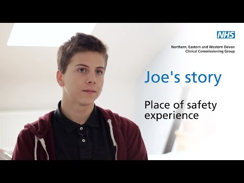 Joe's story - Mental health and place of safety experience
