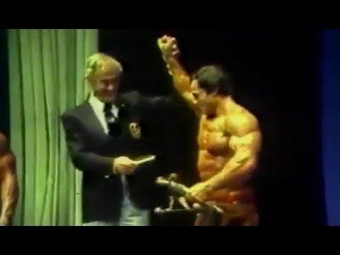 Franco Columbu Winning Mr. Olympia 1981