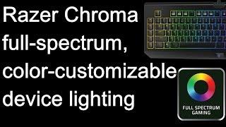 Razer Chroma full spectrum device lighting in action