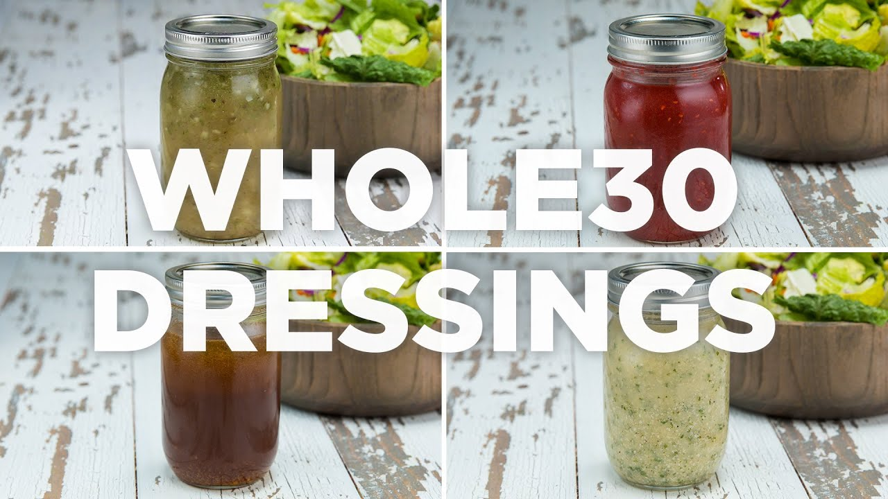 4 Whole30-Friendly Salad Dressings