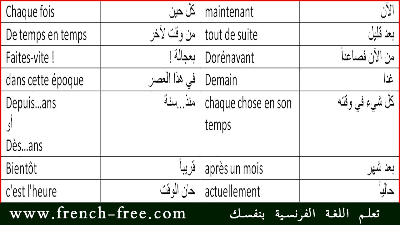 اغاني باللغة الفرنسية مترجمة بالعربية
