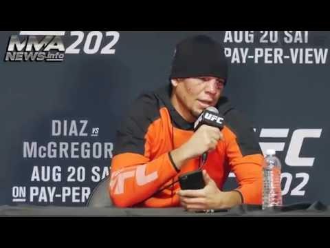 Нейт Диаз после боя с Конором Макгрегором на UFC 202