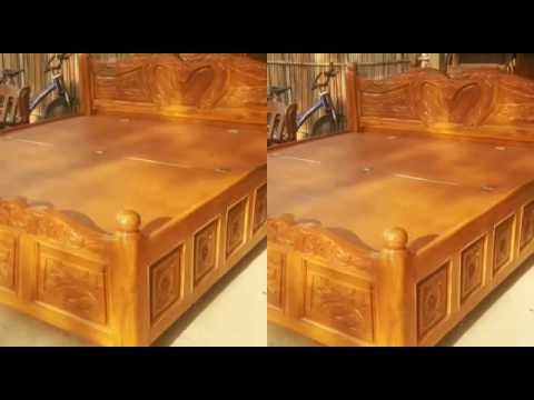 Wooden box bed in pure tickwood ( sagoun , saag , ) mo:  919979765300