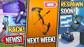 Respawn Vans Soon, THE CUBE & Hop Rocks, Leaked NEXT Update, Boom Bow & More! (Fortnite News)