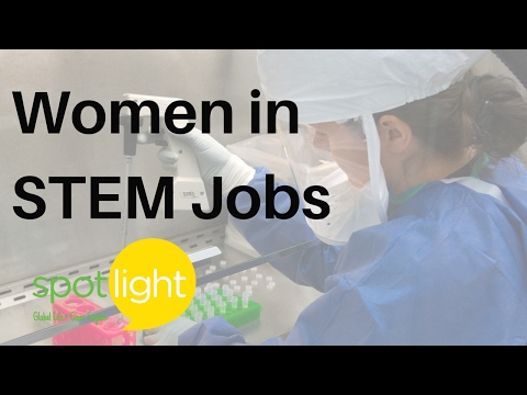 """Women in STEM Jobs"" - practice English with Spotlight"