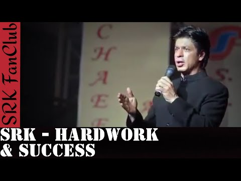 Shah Rukh Khan's Inspiring Speech To Youngsters About Hardwork & Success - SRK FanClub