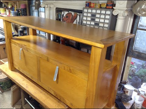Woodworking : Maple TV Stand With Storage // How-To Part 2
