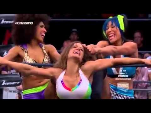 720pHD: iMPACT Wrestling 06.17.15: The Dollhouse vs Brooke & Awesome Kong