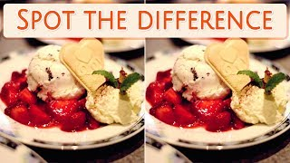 [ Brain games ] ( 3 ) Ep.018 Foods_ice cream_01 | Spot the difference | photo puzzles | Healing